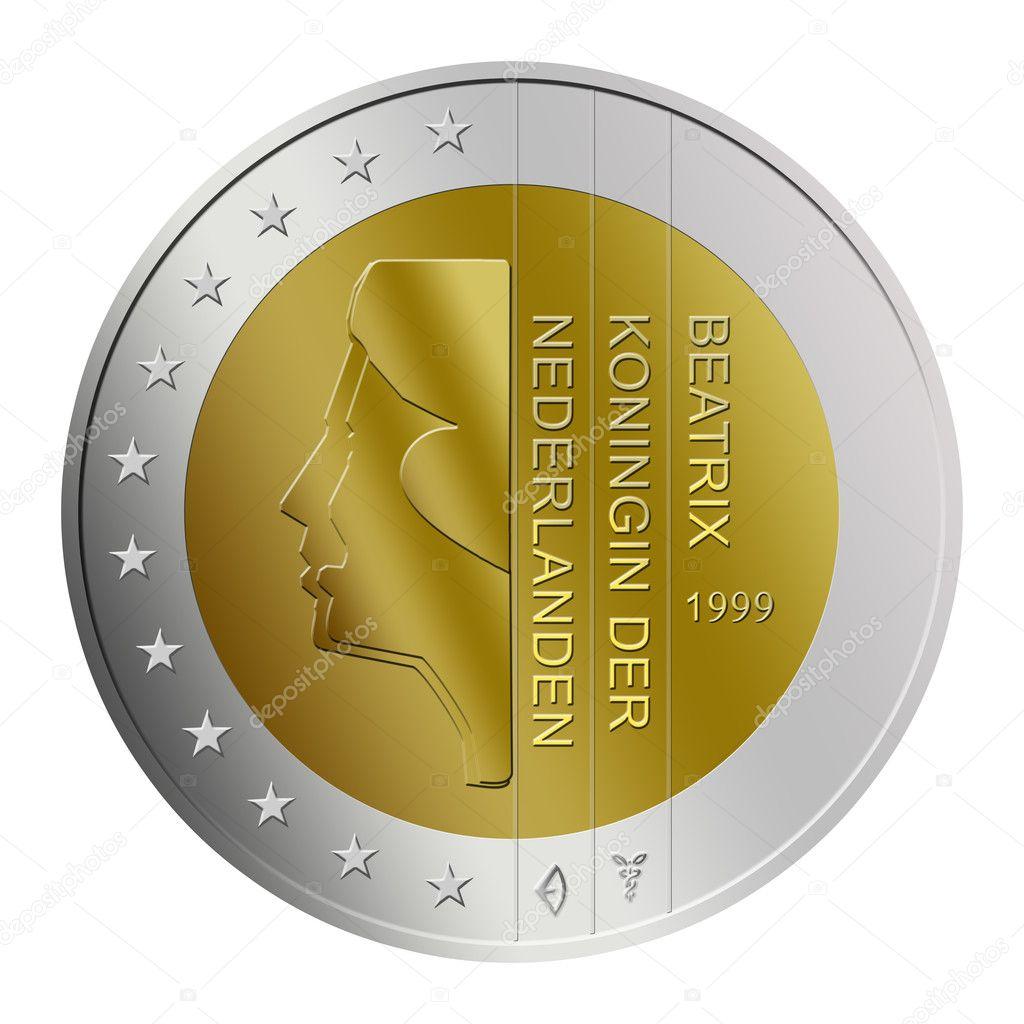 Niederländische 2 Euro Münze Stockfoto Memo34 4025414