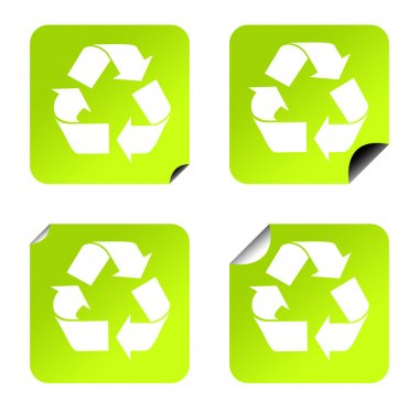 Recycling stickers