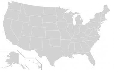 USA Election states map