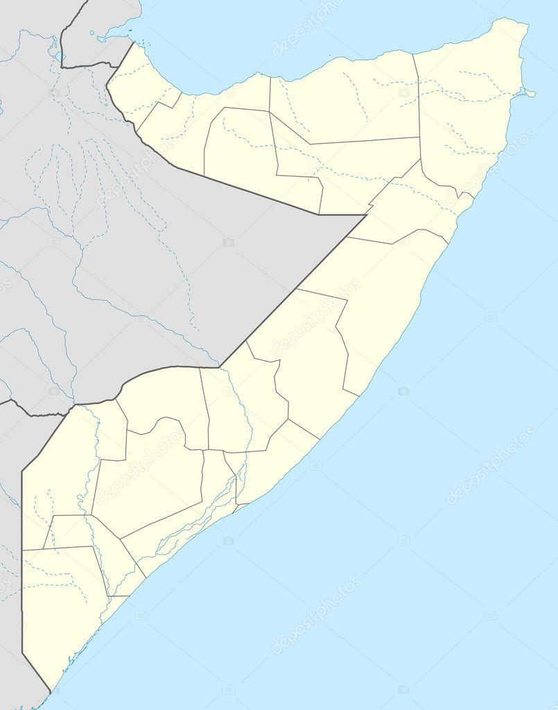 mapa de Somalia — Foto de stock © speedfighter17 #5304599