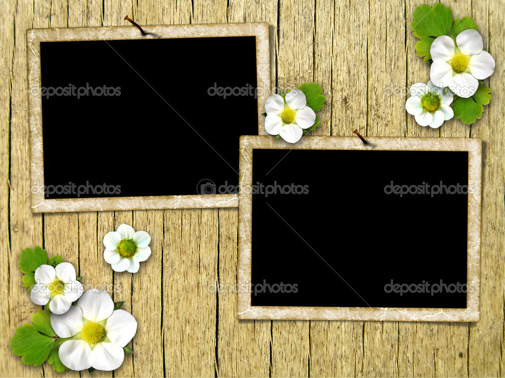 Frames On The Old Wooden Wall Stock Photo Aelita 4358053
