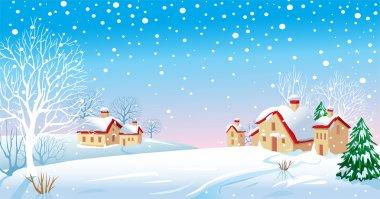Winter Morning stock vector