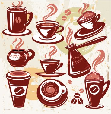Set of coffee symbols