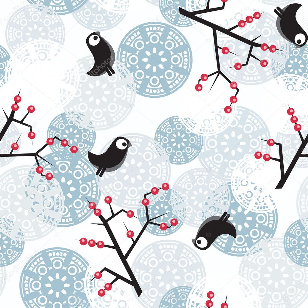 Seamless beautiful winter pattern.