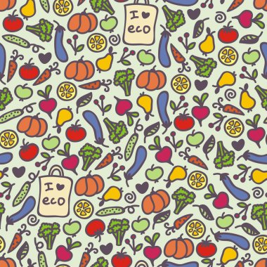 Seamless healthy food pattern.