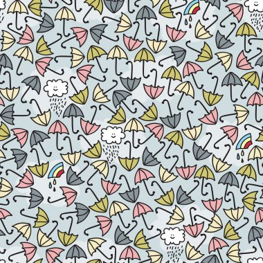 Umbrella seamless pattern.