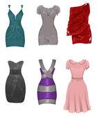 Garnitur weiblicher Kleider