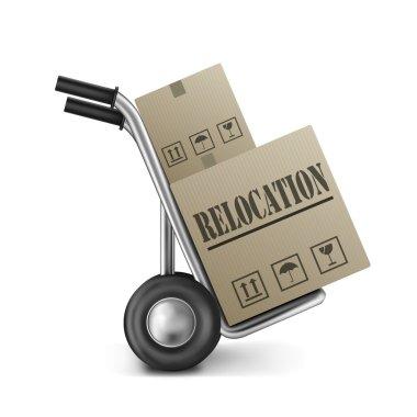 Relocation cardboard box