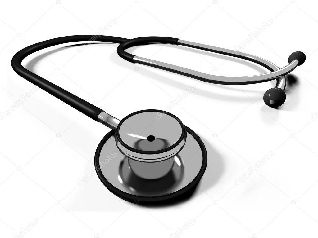 3d doctor's stethoscope — Stock Photo © Iraidka #4483830 Doctor Stethoscope Graphic