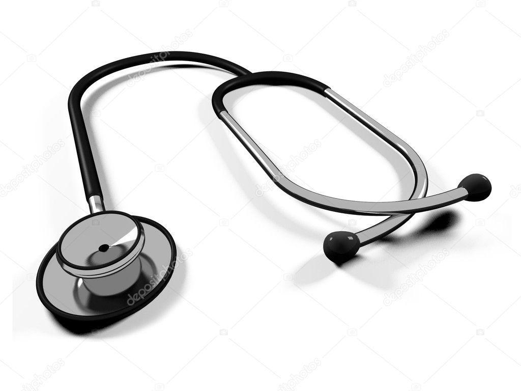 3d doctor's stethoscope — Stock Photo © Iraidka #4483833 Doctor Stethoscope Graphic