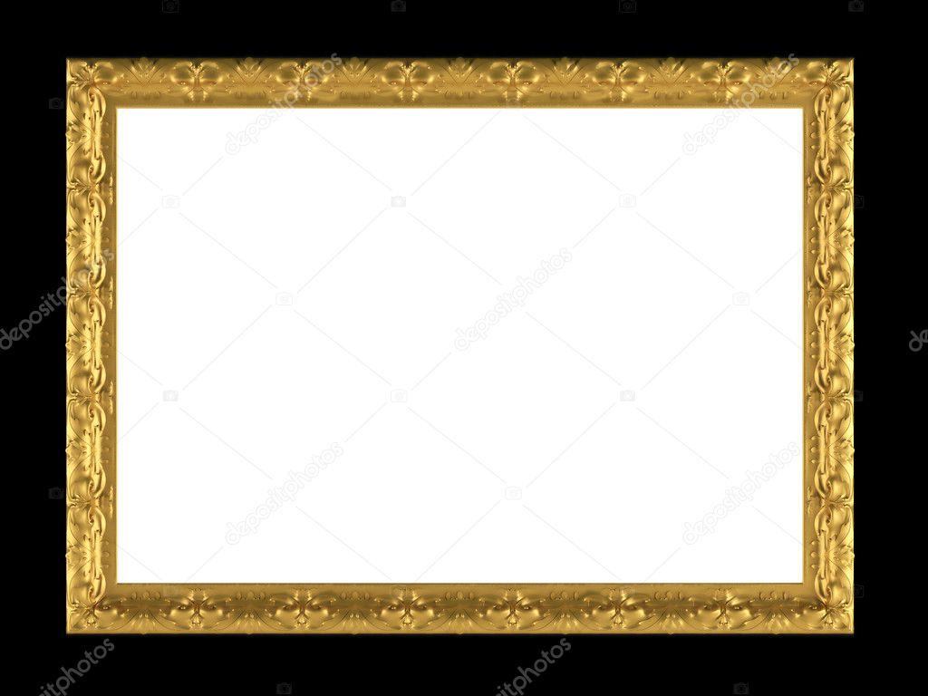 antikes gold verzierte Bilderrahmen isoliert — Stockfoto © kosheen ...