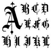 Fotografie Vector Letters A-L