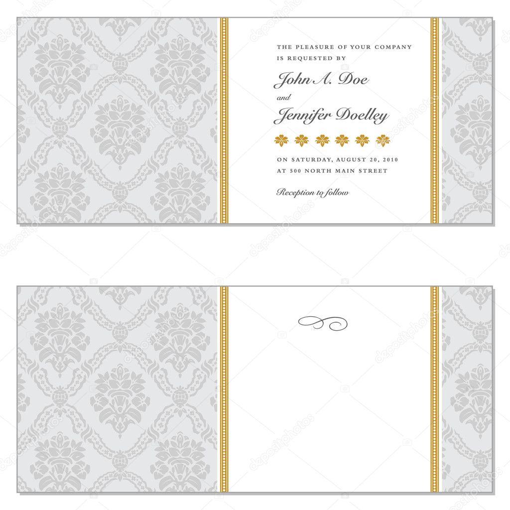 conjunto de marco Damasco Vector oro — Vector de stock © createfirst ...