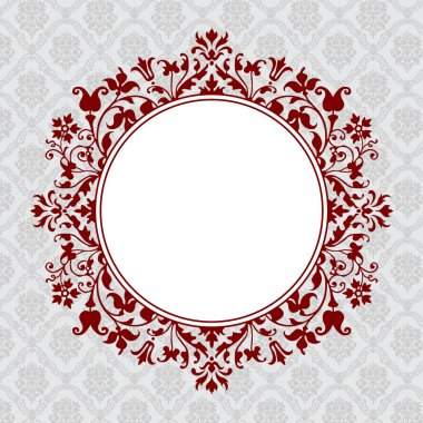 Vector Ornate Round Floral Frame