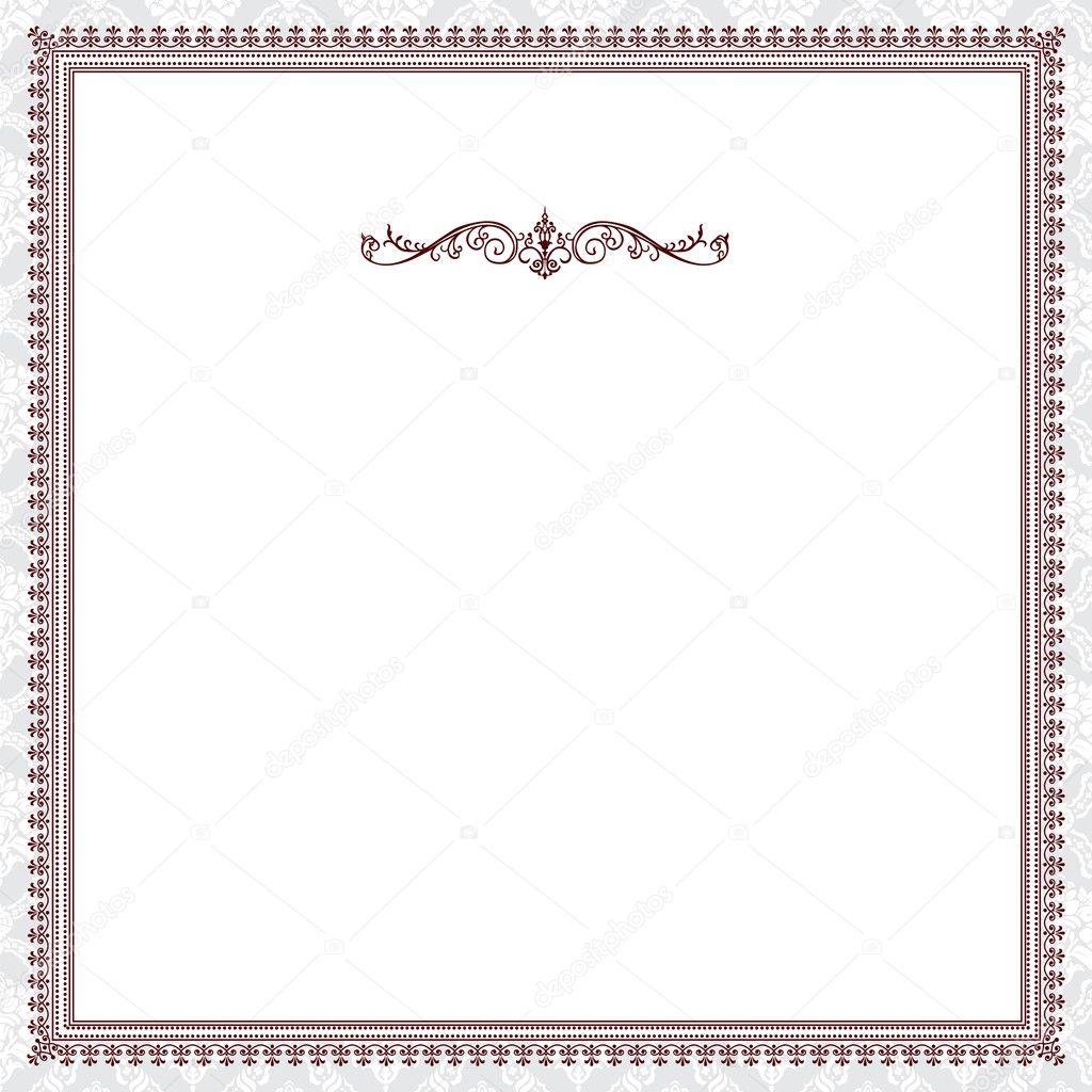 Vektor rot viktorianischen frame — Stockvektor © createfirst #4624330