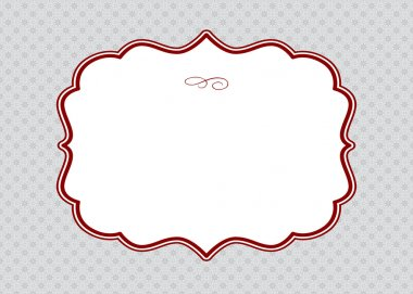 Vector Red Ornate Frame