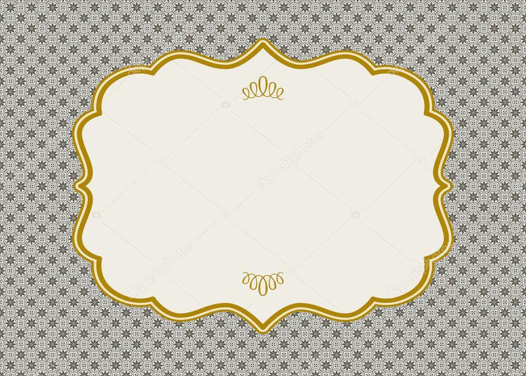 marco de oro adornado Vector — Archivo Imágenes Vectoriales ...