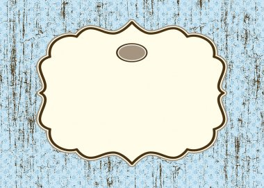 Vector Distressed Background with Ornate Frame