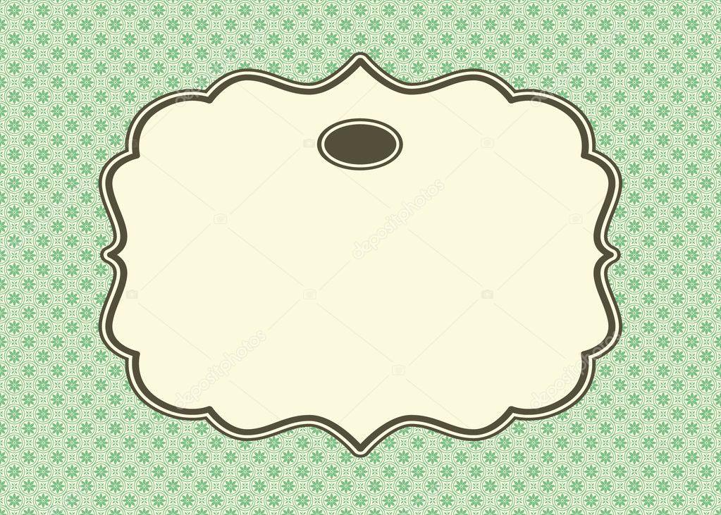 Vector de fondo verde y marco ornamentado — Archivo Imágenes ...
