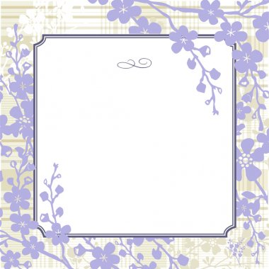 Vector Lilac Background and Frame