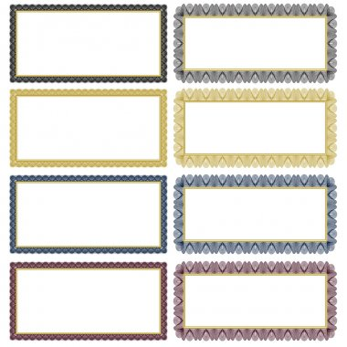 Vector Filigree Frame Set