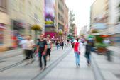 Fotografie Fuß auf einer Straße
