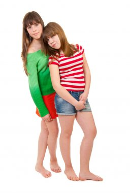 Full-length portrait of two girls