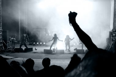 Scene from a rock concert