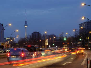 Road traffic at night