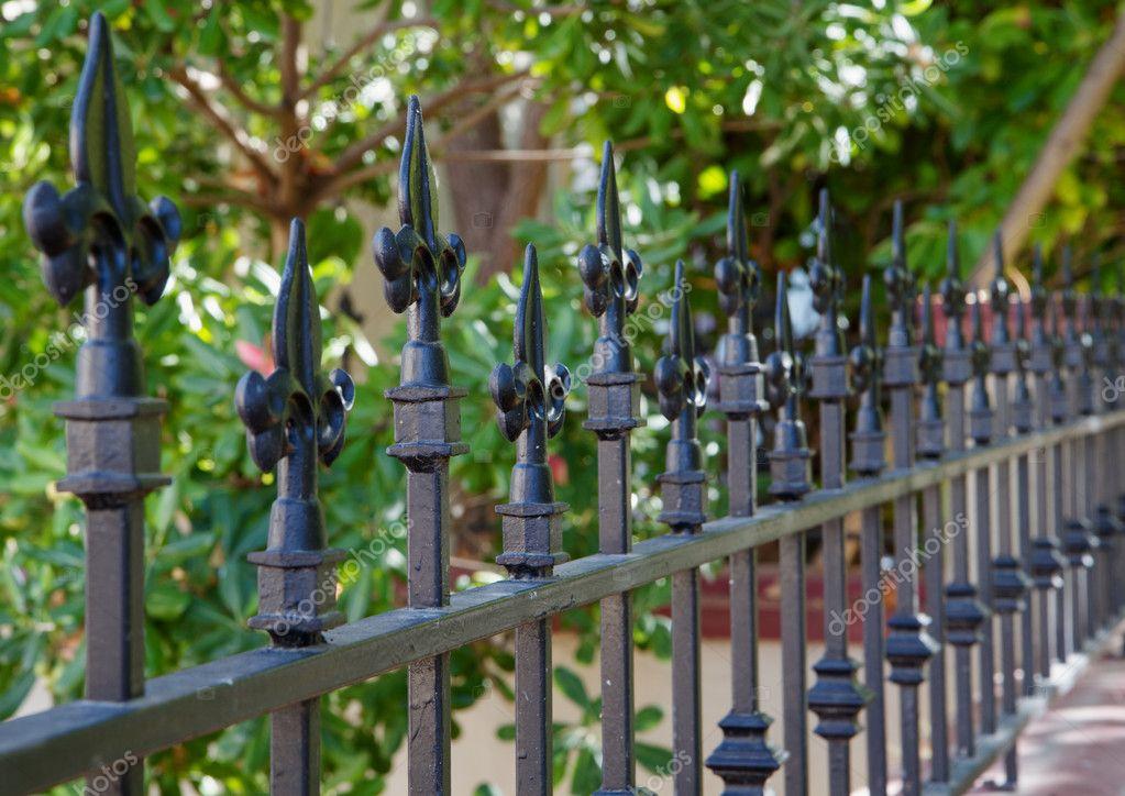 Black spike fence deeper dof