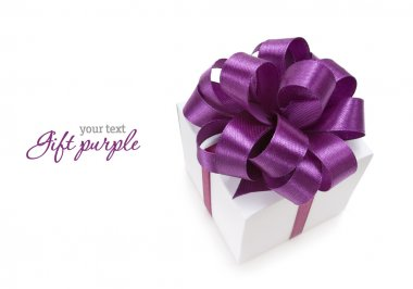Gift with purple ribbon