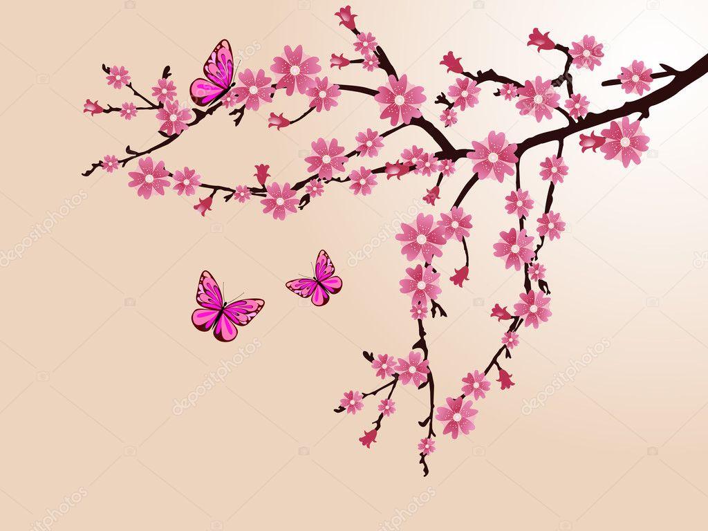 Cherry Blossom Stock Vector 169 Andreakaulitzki 5065317