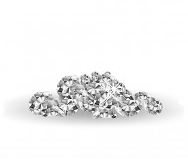 Vector Diamonds on white surface