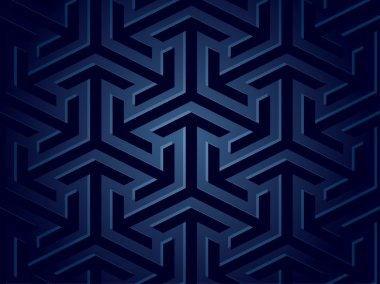 Seamless background of geometric shapes. Vector