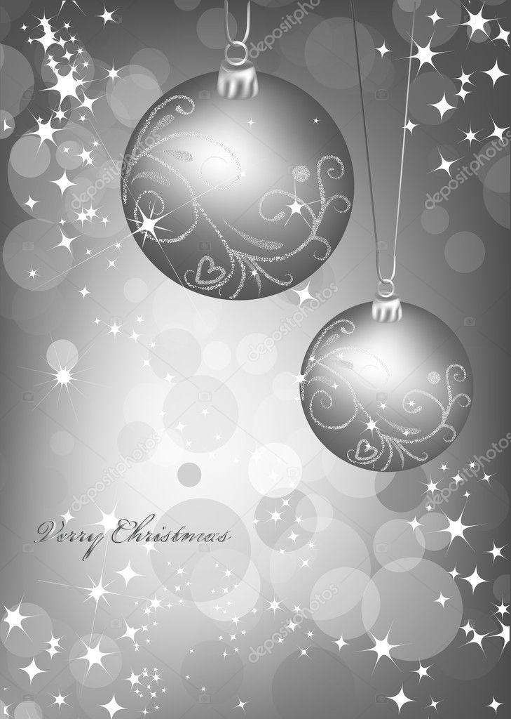 Weihnachten Silber Hintergrund mit Ball. Vektor — Stockvektor ...