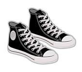 Sportovní boty, tenisky. vektorové ilustrace