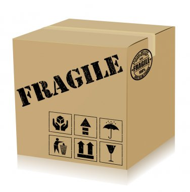 Handle With Care Box. Vector