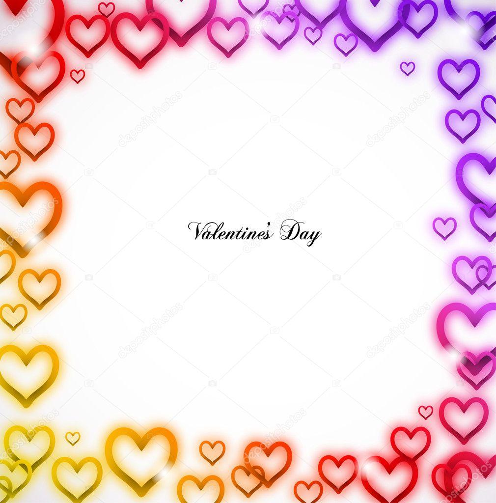 Moldura Coração De Arco-íris Com Brilhos. Vector
