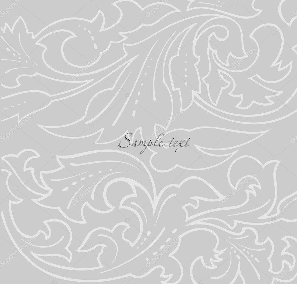 Wallpaper Grey Floral Background Vector Stock Vector