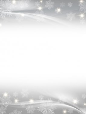 White grey christmas background