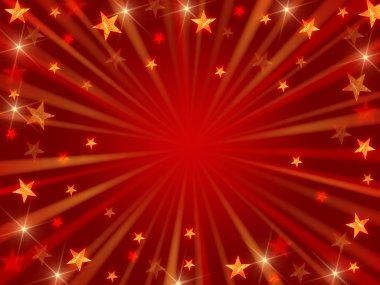 Christmas background radiate