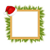 Fotografie Framework For Photo With Santa Claus Hat