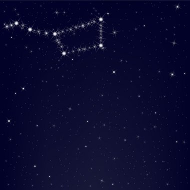 Dark Blue Sky With Constellation Of Ursa Major