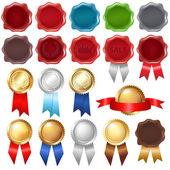 Collection Wax Seal And Award Ribbons