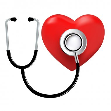 Stethoscope And Heart, Isolated On White Background, Vector Illustration stock vector