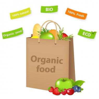 Bag With Organic Food