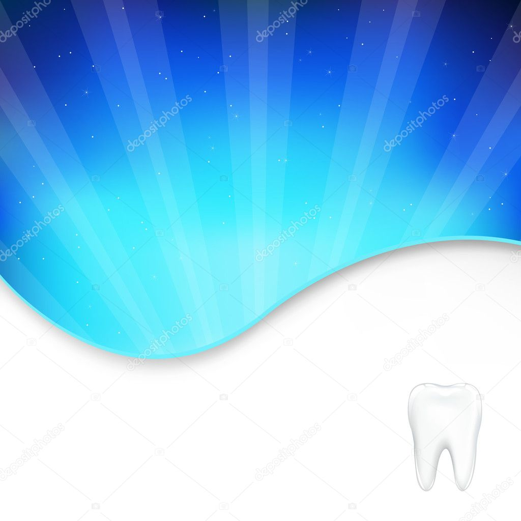 Background With Tooth And Beams