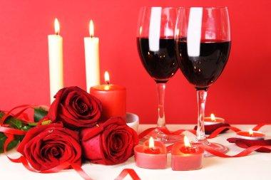 Romantic Dinner for Two Still Life