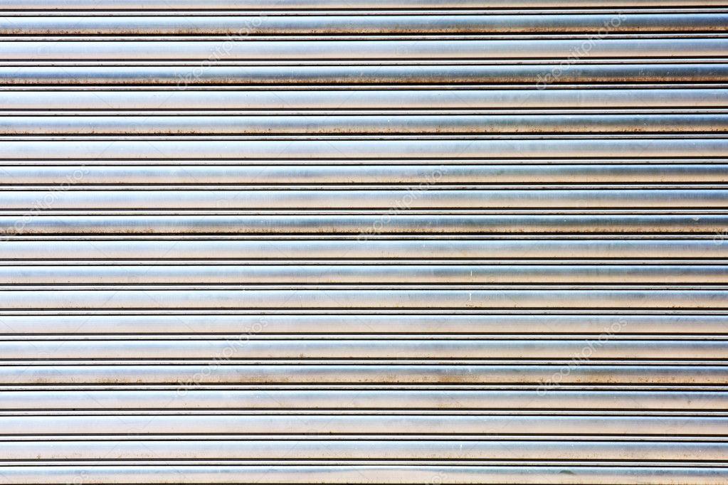 Worn Metal Garage Door Gate Store Roller Shutter U2014 Stock Photo #5236113