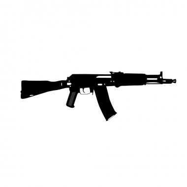 Vector drawing Kalashnikov's automatic machine